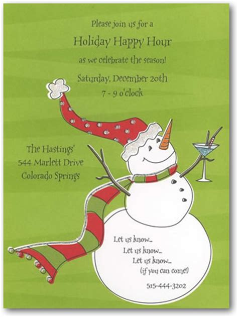printed write christmas and holiday invitation pw68w105b