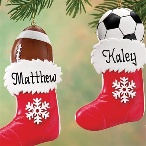 personalized sports stocking ornament christmas miles kimball