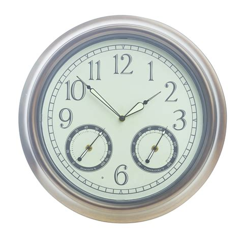 gardman led outdoor glow wall clock 45 x 45cm