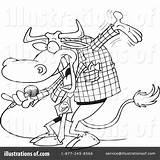 Coloring Bull Clipart Matador Rf Toonaday Cartoon Template sketch template