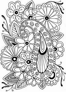 Free adult flowers coloring pages