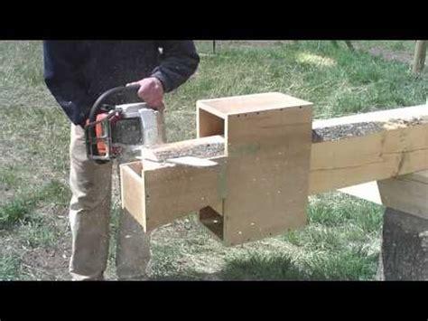 building  log home  cabin   dovetailor jig