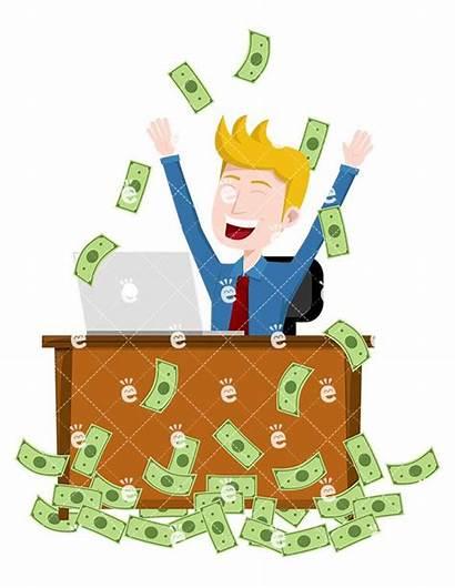 Money Having Rain Moment Down Bill Business