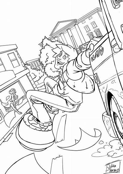 Coloring Future Marty Pages Mcfly Template Sketch