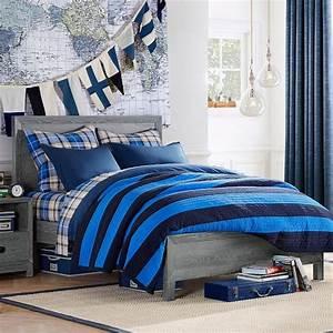 rowan classic bed pbteen With boys queen headboard