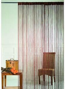 Rideau Fil Noir : rideau fils spaghetti chocolat paille noir bordeaux turquoise beige anis ~ Teatrodelosmanantiales.com Idées de Décoration
