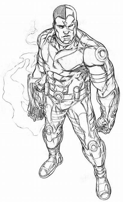 Cyborg Deviantart Dc Titans Teen Comics Coloring
