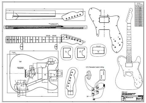 bass headstock template danelectro 72 tele custom drawing gitabou