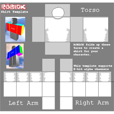 Roblox Shading Template Shaded Sleeve Template Roblox
