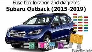 Fuse Box Location And Diagrams  Subaru Outback  2015