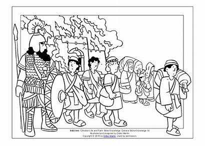 Coloring Babylon Bible Captives Young Slideshare Link