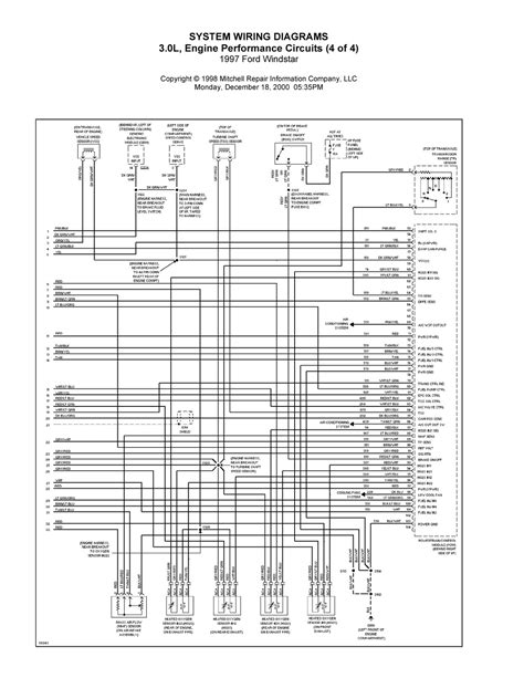 Complete System Wiring Diagram 1997 Ford Windstar by 1997 Ford Windstar Complete System Wiring Diagrams