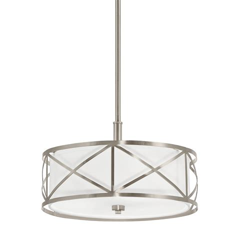 kichler lighting 3 light drum pendant cross lowe s canada