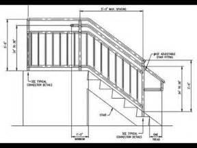 deck stair railing measurements deck stair railing post height