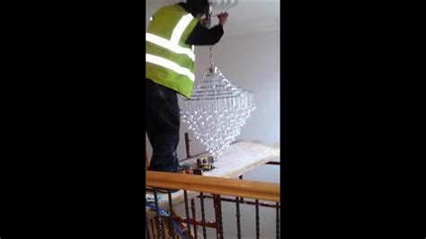 how to add a chandelier to a ceiling fan how to install a large chandelier in a high ceiling by