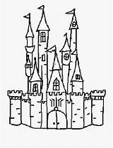 Castle Outline Template Drawing Scrapbooking Coloring Disneyland Medieval Cartoon Hogwarts Disney Bouncy Netclipart Windows Vippng sketch template