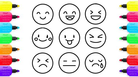 emoji coloring pages  shildren   draw emoji