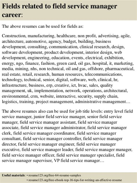 Field Service Manager Resume by Top 8 Field Service Manager Resume Sles