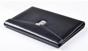 cagie vintage a4 black leather padfolio men With mens leather document folder