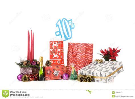 discount sign above christmas shopping stock photos