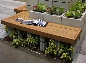 Pflanzen Kübel Beton : gartenbank und hochbeet f r pflanzen in einem garten terrasse pinterest gartenb nke ~ Sanjose-hotels-ca.com Haus und Dekorationen