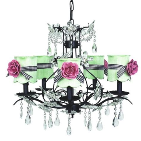 black green and pink chandelier