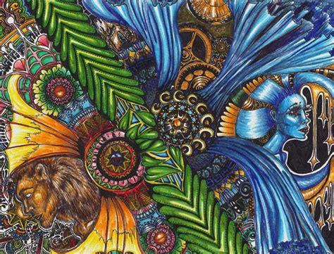 Sun and Moon | Moon art, Art, Psychedelic art