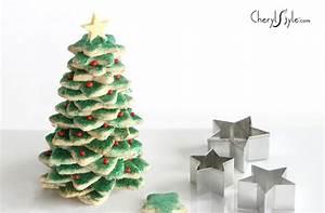 Stacked sugar cookies Christmas tree