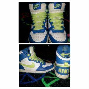 off Nike Shoes Clear lime green and turquoise uptown
