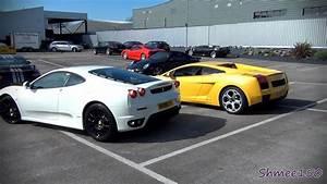 Ferrari Vs Lamborghini : ferrari f430 vs lamborghini gallardo revs and drive off youtube ~ Medecine-chirurgie-esthetiques.com Avis de Voitures