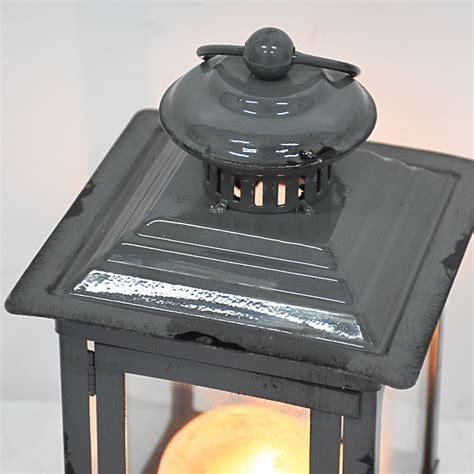 antique vintage mini enamel iron metal decorative lantern