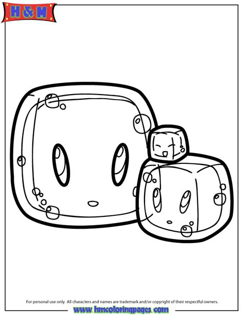 Coloring Slime by Slime Coloring Pages
