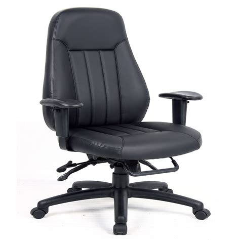 zeus heavy duty 24 hour leather office chair zeu300k2