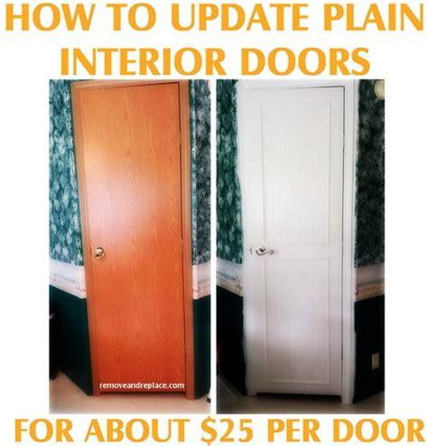 updating interior doors how to update plain flat interior doors removeandreplace