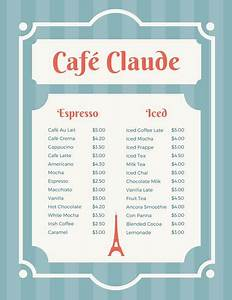 customize 265 french menu templates online canva With french cafe menu template