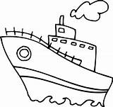 Coloring Boat sketch template