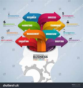 Abstract 3d Digital Business Brain Infographic Stock Vector 317116934