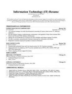information technology skills on resume information technology it resume sle resume companion