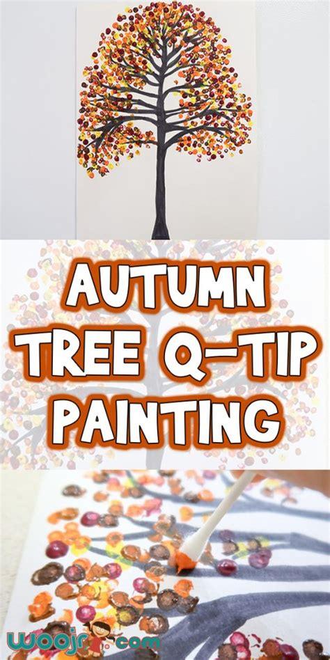 autumn tree  tip painting woo jr kids activities