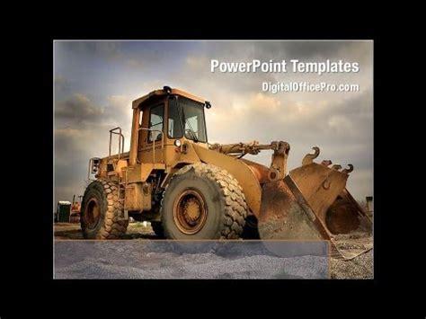 heavy construction equipment powerpoint template
