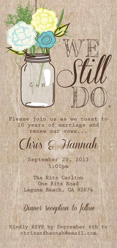 jar printable invitation rustic wedding invitation