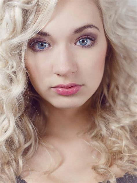kostenlose bild blonde haare herrlich glamour auge