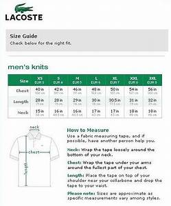 European Size Chart Conversion To Us Buying Authentic Us Size Lacoste Shirts Ebay