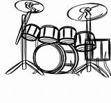 Drum Coloring Pages Musical Drums Instruments Colouring Printable Printables Getcolorings sketch template