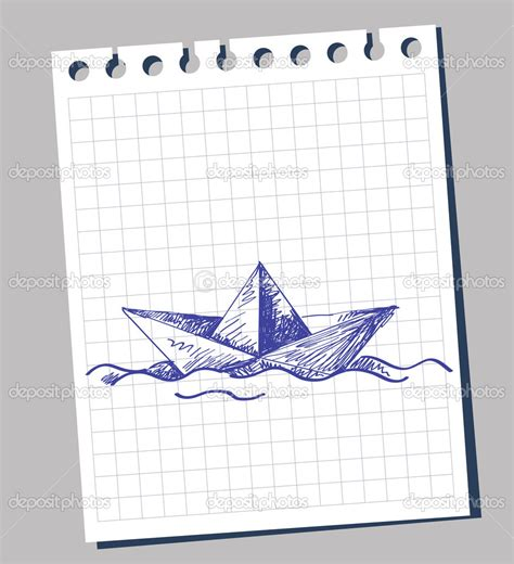 How To Draw A Boat Paper by Paper Boat Drawing Vector By Bioraven Draw