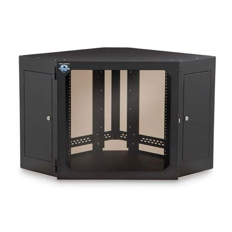 Mounting Cabinets by Kendall Howard 12u Corner Wall Mount Cabinet Smoked Glass