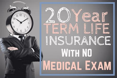 year term life insurance  medical exam rates