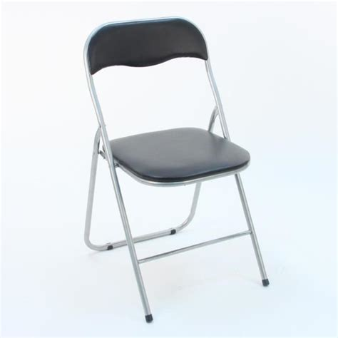 chaises pliantes pas cher 4 chaises pliantes noir achat vente chaise salle a