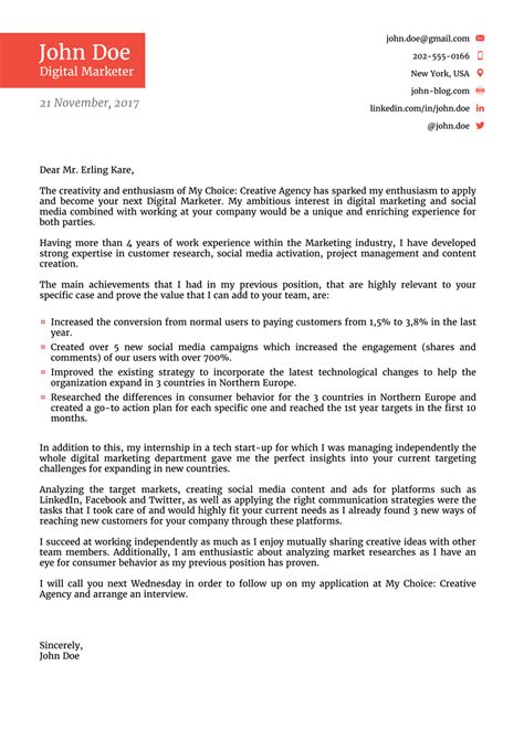 elevator pitch letter job application letter cover
