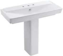 kohler k 5149 8 0 white reve 39 3 8 quot fireclay pedestal